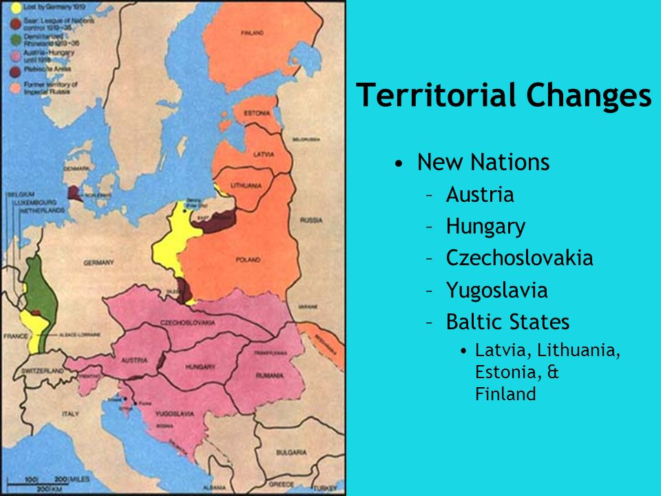 Territorial Changes New Nations Austria Hungary Czechoslovakia