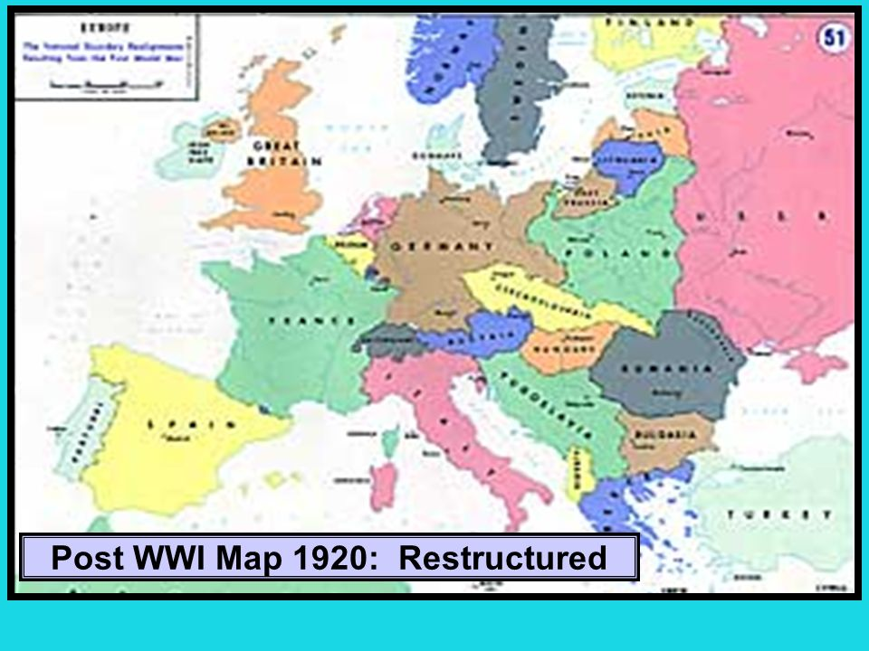 Post WWI Map 1920: Restructured