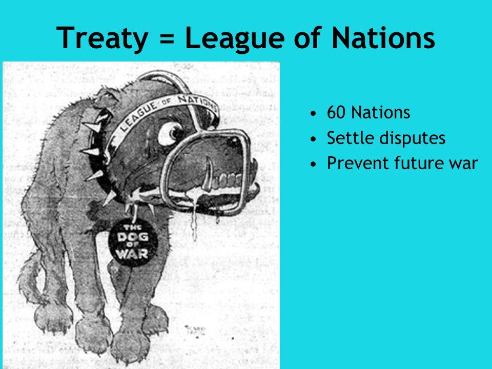 Treaty = League of Nations