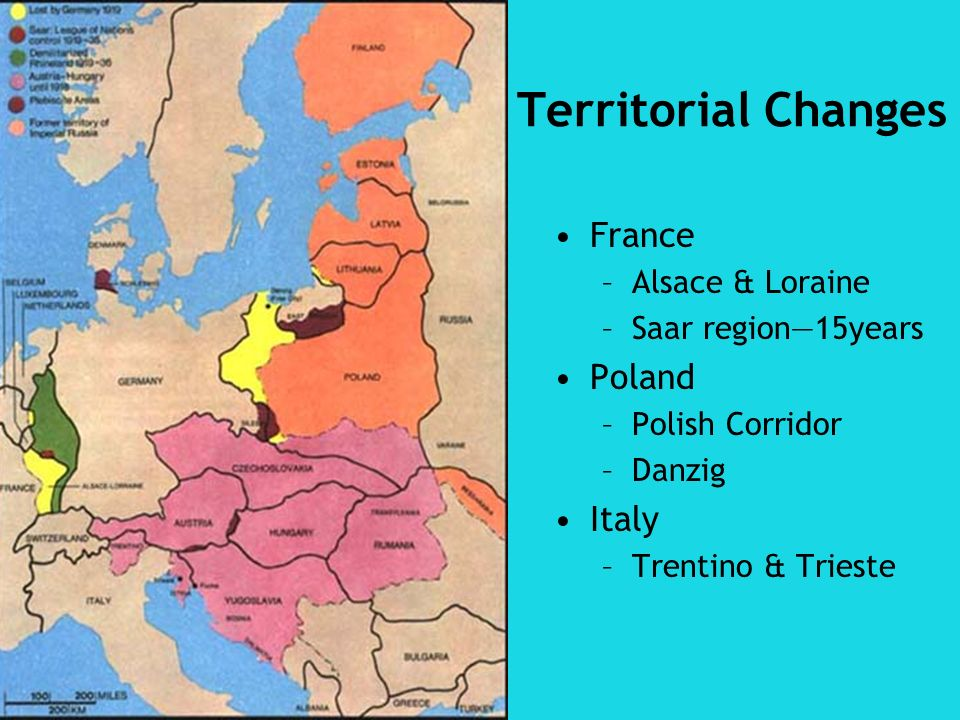 Territorial Changes France Poland Italy Alsace & Loraine