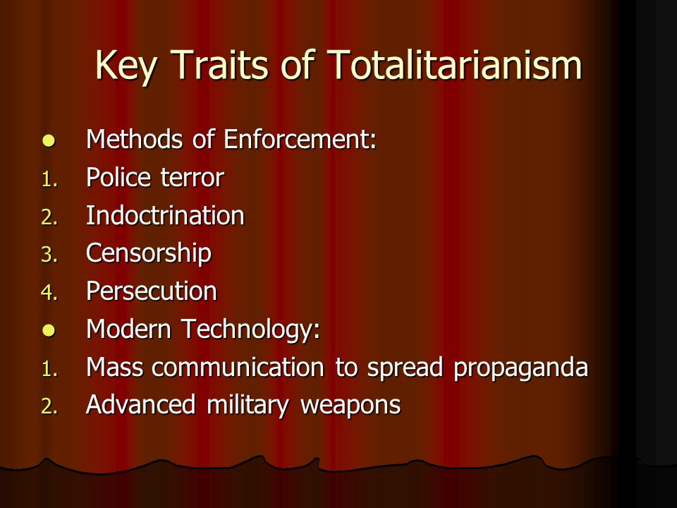 Key Traits of Totalitarianism