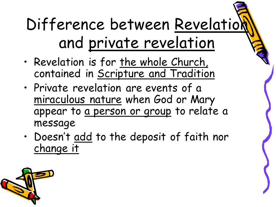 Difference between Revelation and private revelation