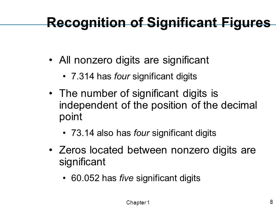 Recognition of Significant Figures