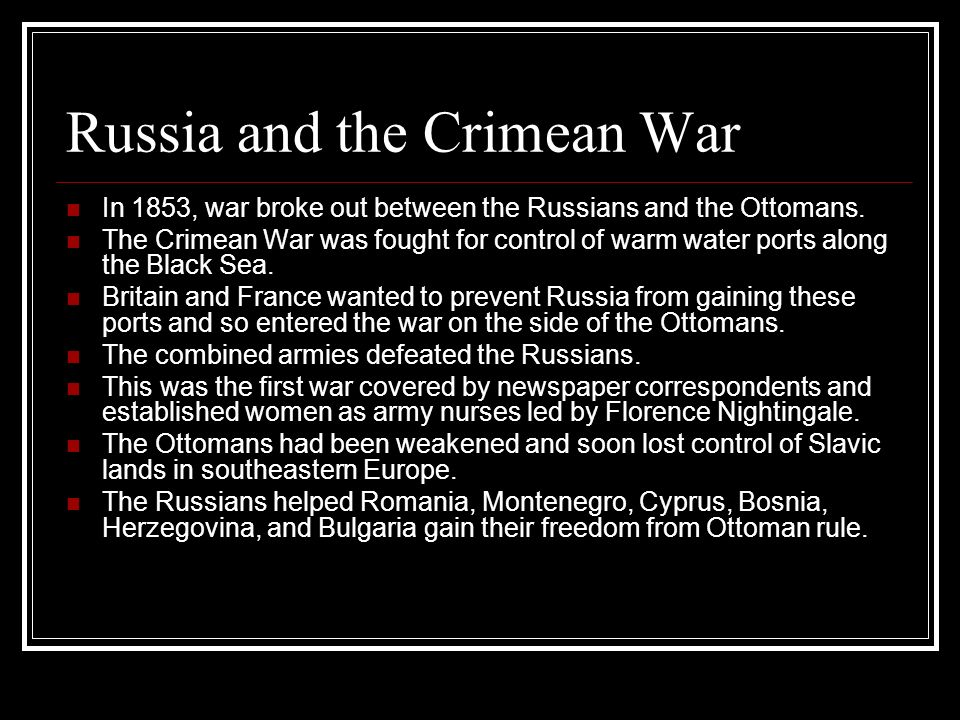 Russia and the Crimean War