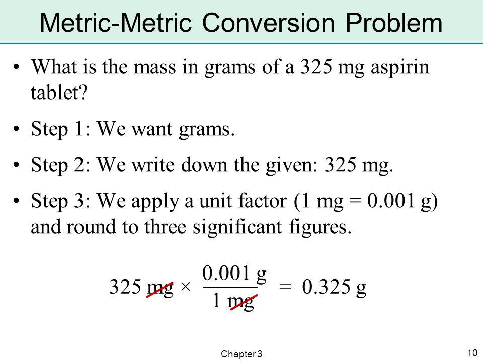 Metric-Metric Conversion Problem