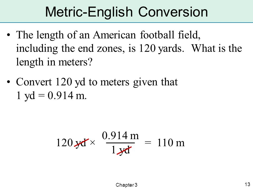 Metric-English Conversion