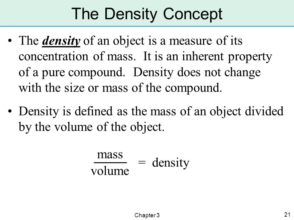 The Density Concept