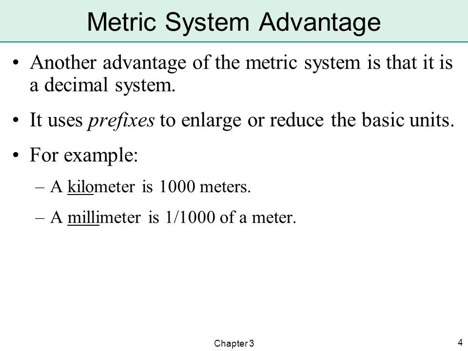 Metric System Advantage