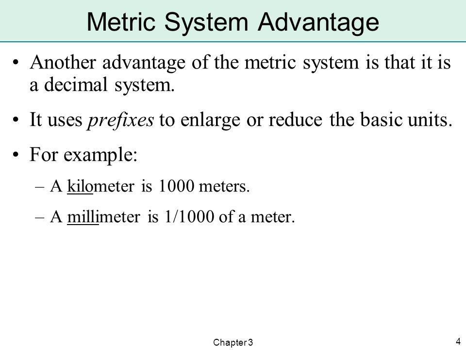 Metric System Advantage