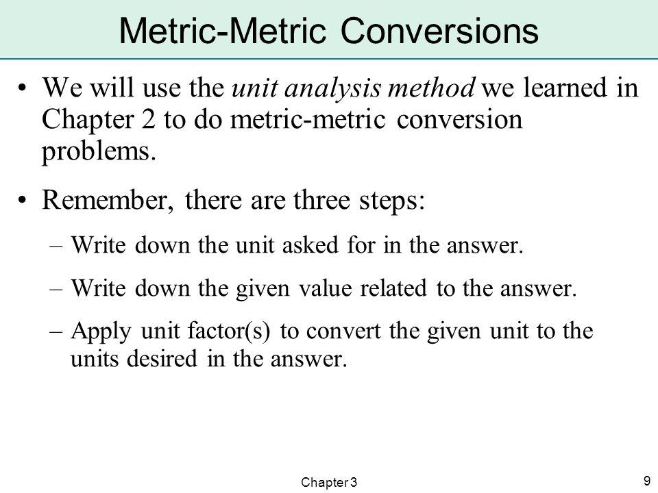 Metric-Metric Conversions