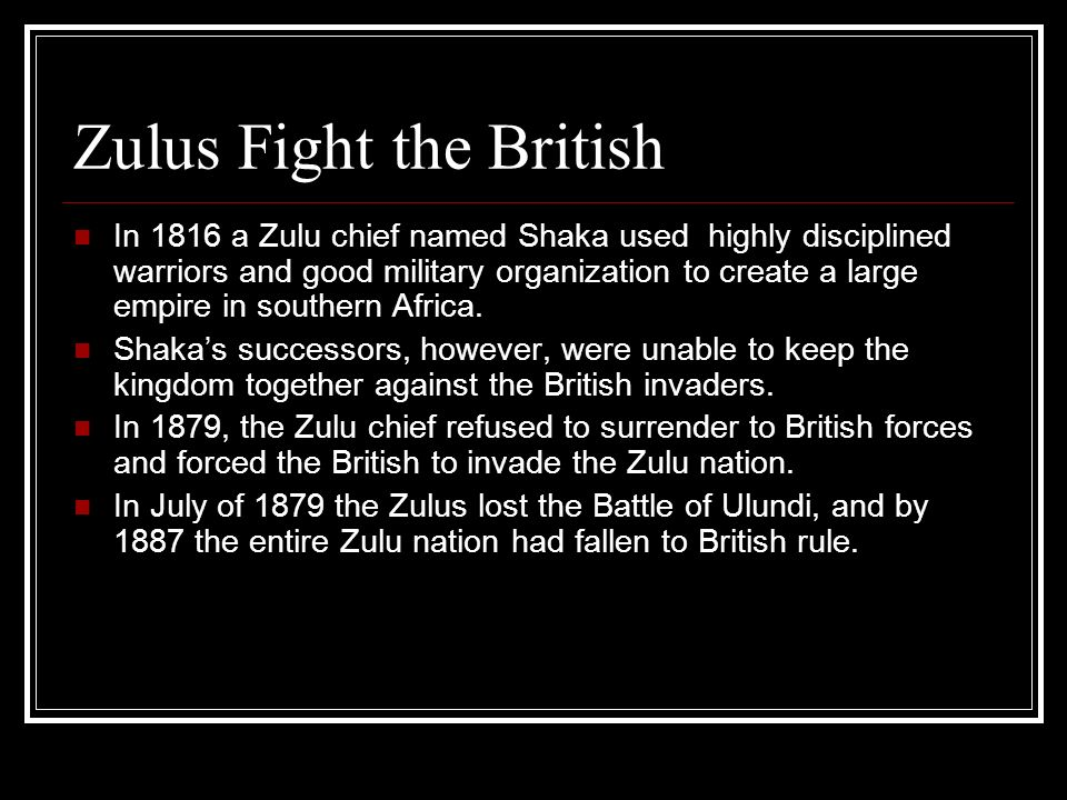 Zulus Fight the British
