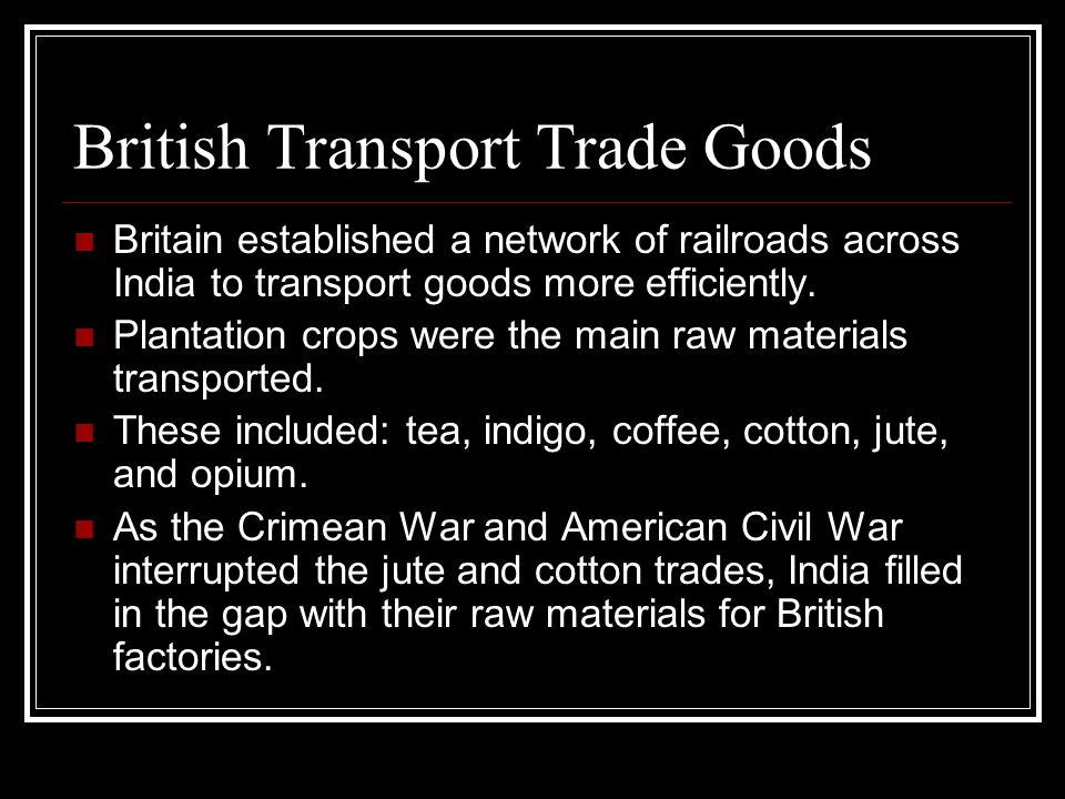 British Transport Trade Goods