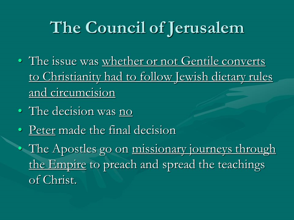 The Council of Jerusalem