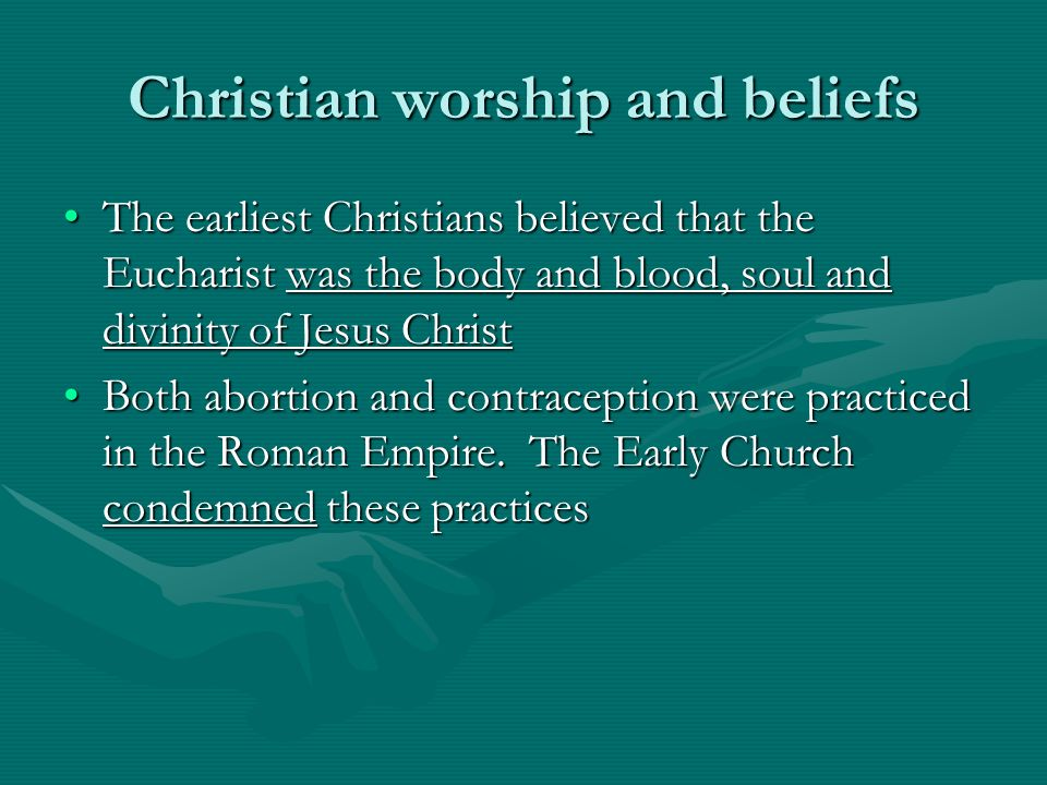 Christian worship and beliefs