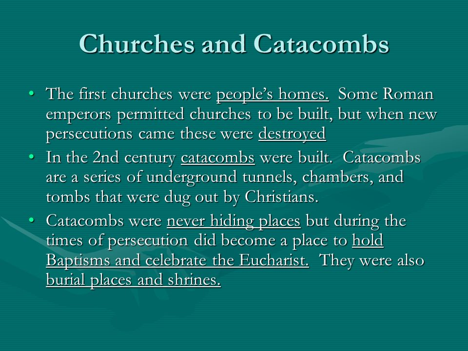 Churches and Catacombs