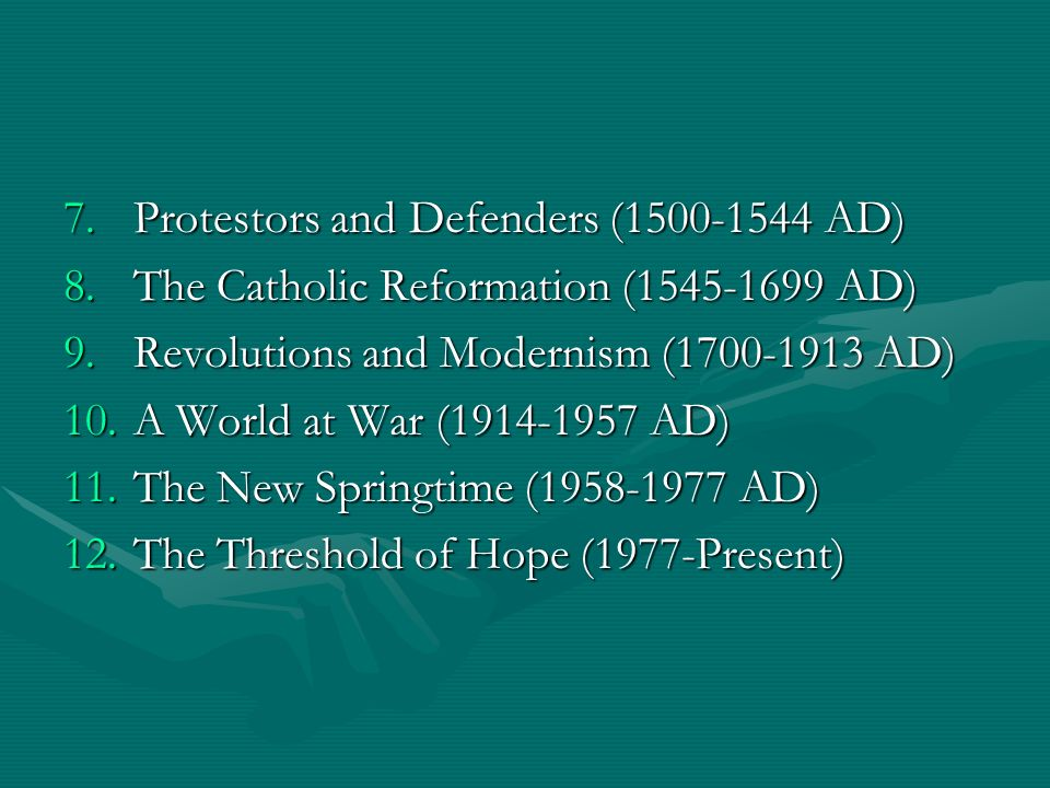 Protestors and Defenders (1500-1544 AD)