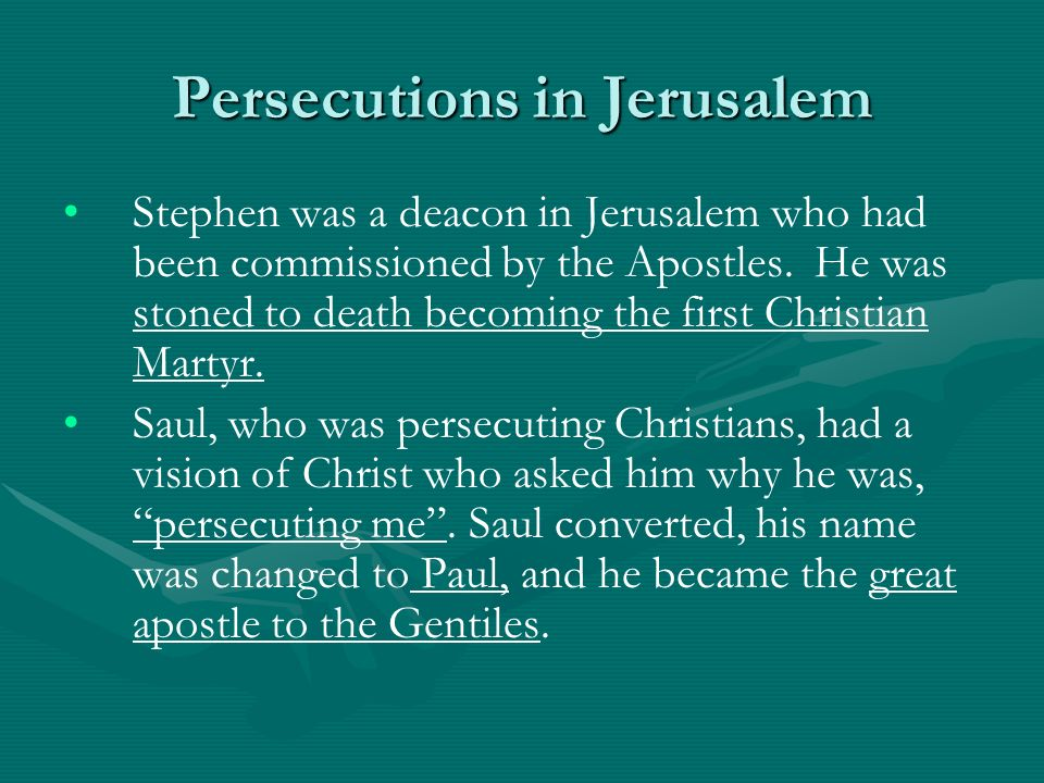 Persecutions in Jerusalem