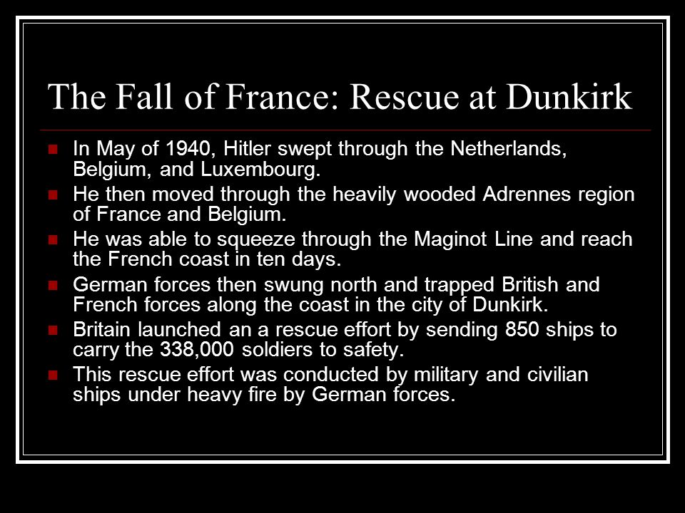 The Fall of France: Rescue at Dunkirk