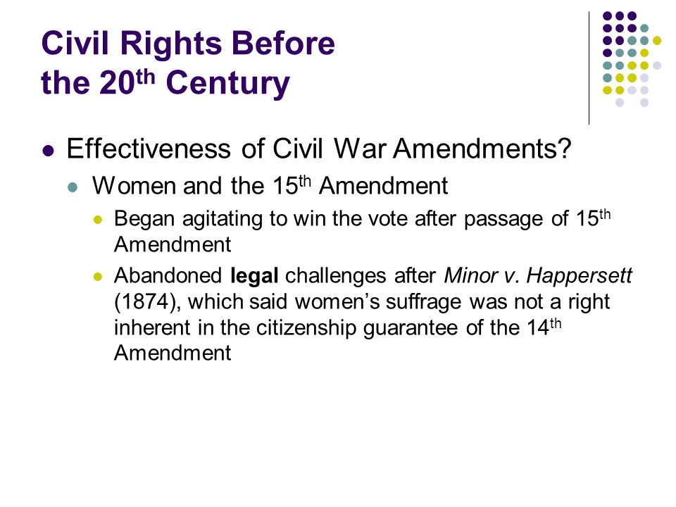 Civil Rights Before the 20th Century