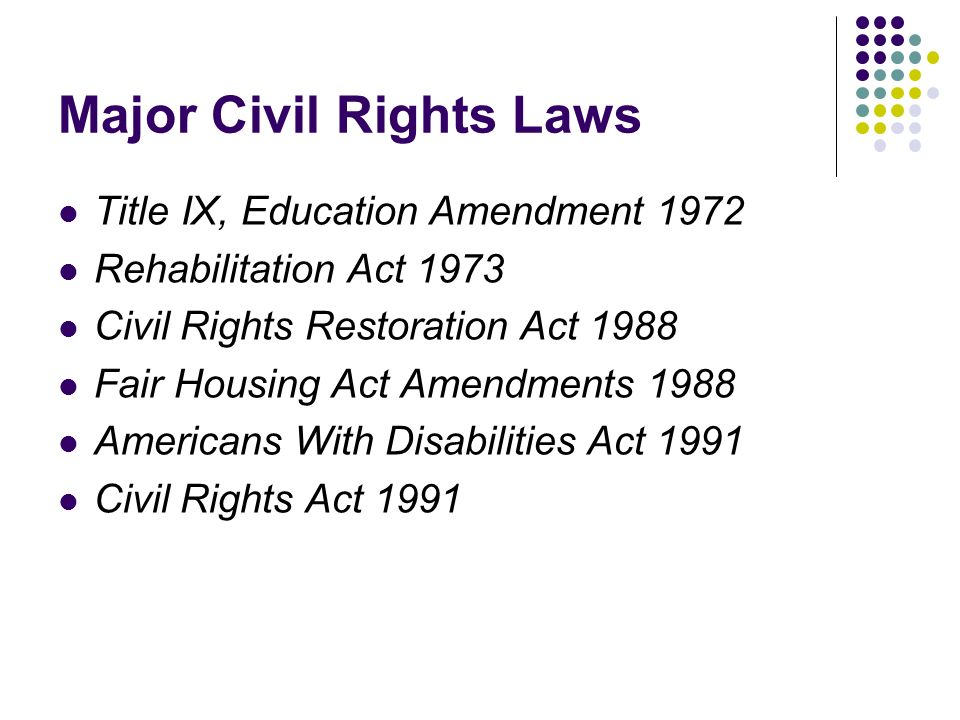 Major Civil Rights Laws
