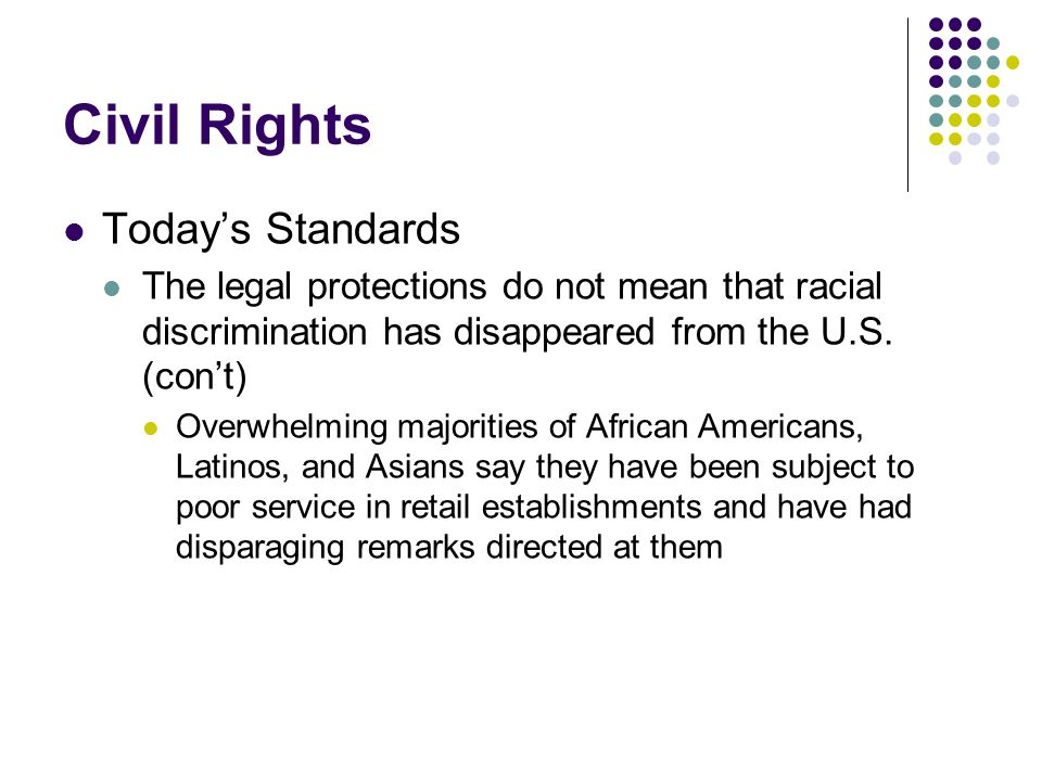 Civil Rights Today's Standards