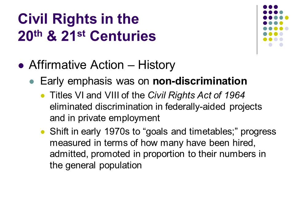 Civil Rights in the 20th & 21st Centuries