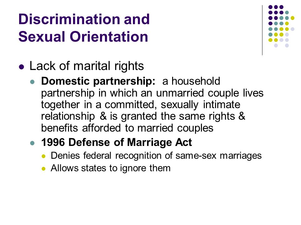 Discrimination and Sexual Orientation