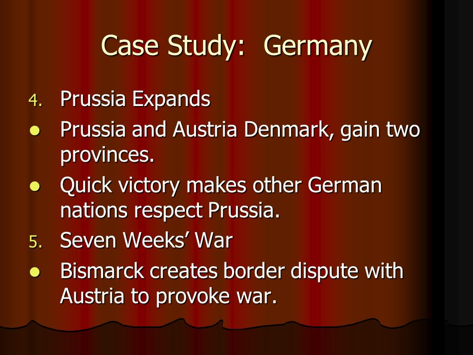 Case Study: Germany Prussia Expands