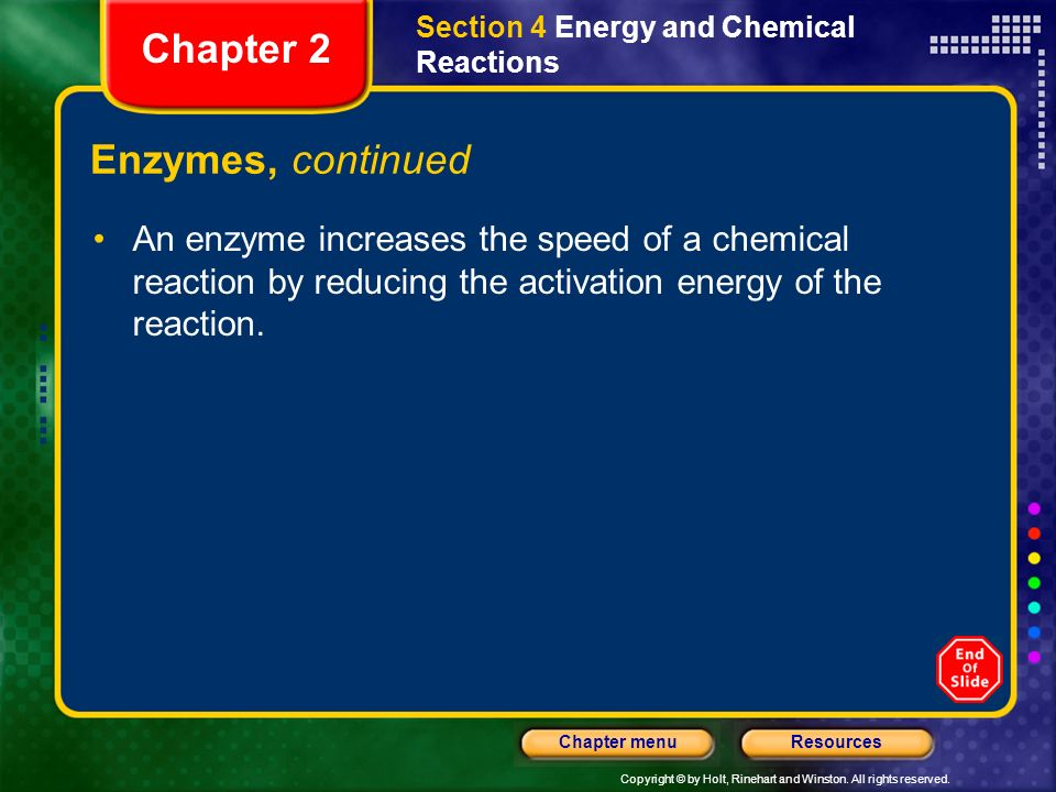 Chapter 2 Enzymes, continued