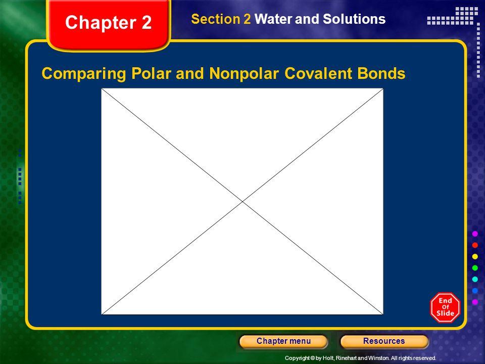 Comparing Polar and Nonpolar Covalent Bonds