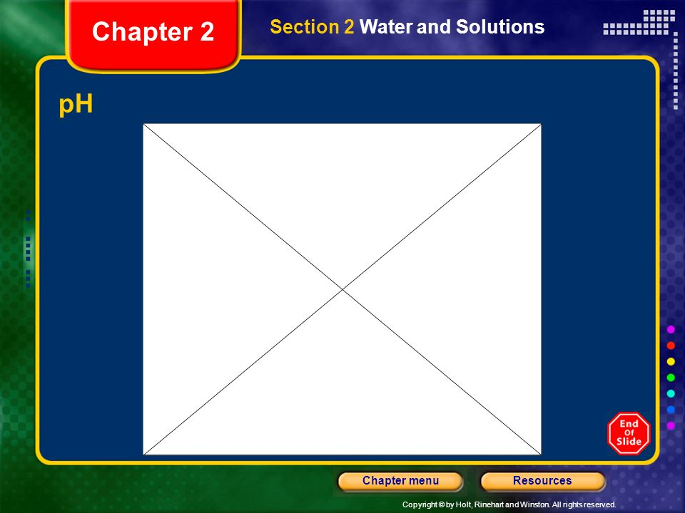 Chapter 2 Section 2 Water and Solutions pH