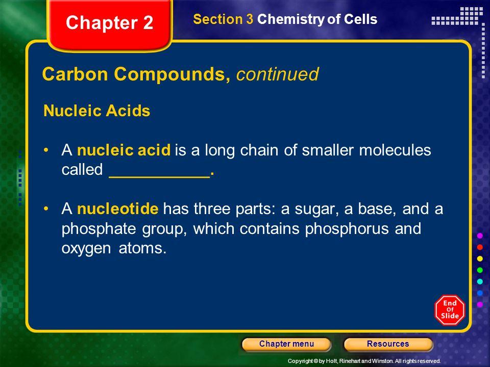 Carbon Compounds, continued