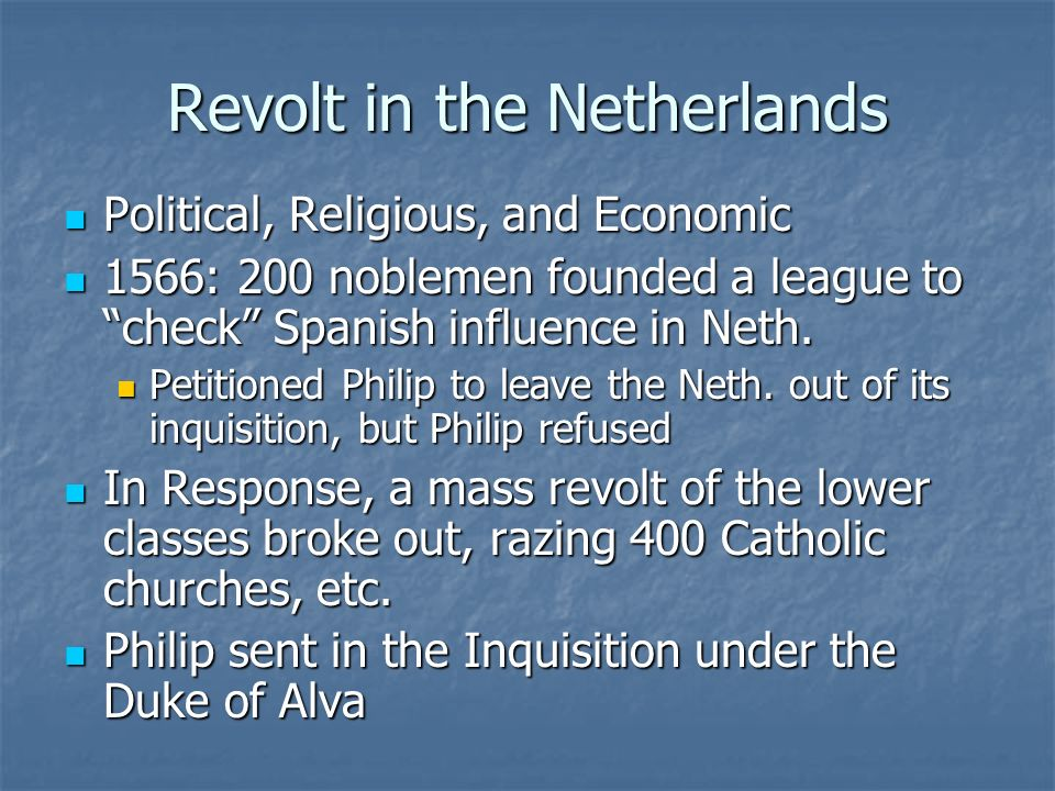 Revolt in the Netherlands
