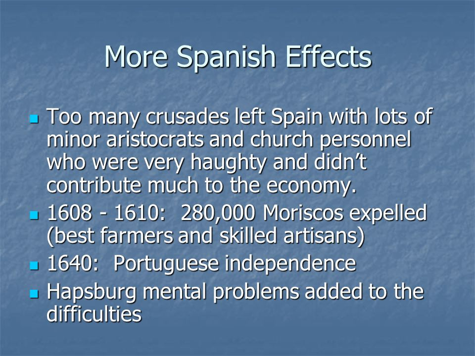 More Spanish Effects