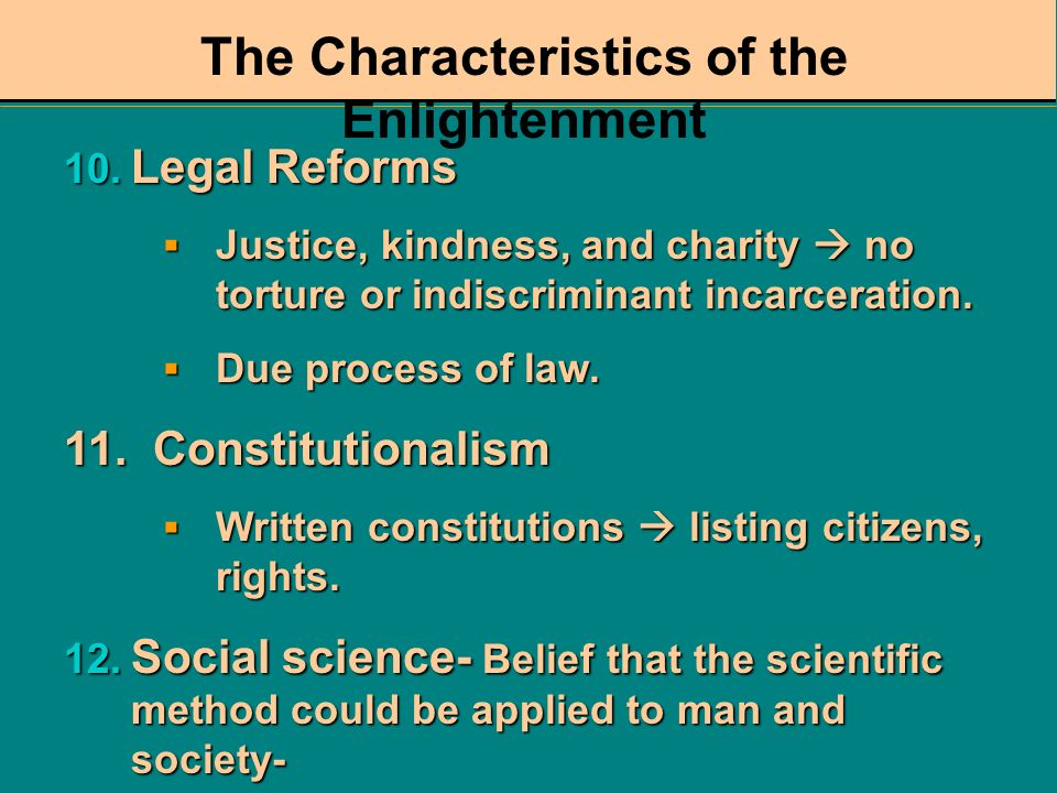 The Characteristics of the Enlightenment