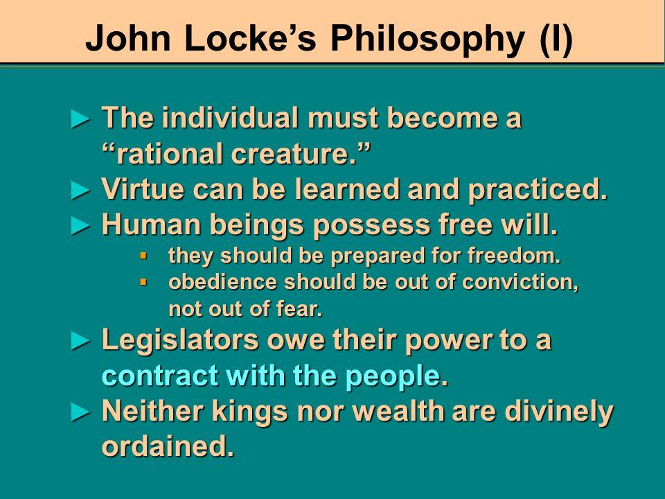 John Locke's Philosophy (I)