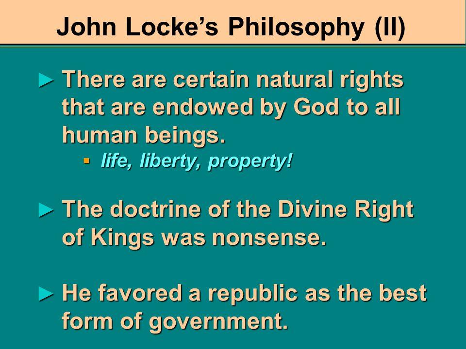 John Locke's Philosophy (II)