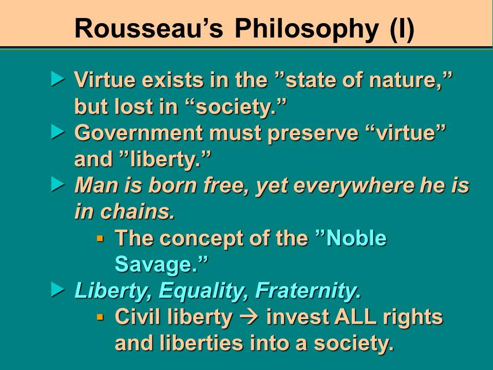 Rousseau's Philosophy (I)