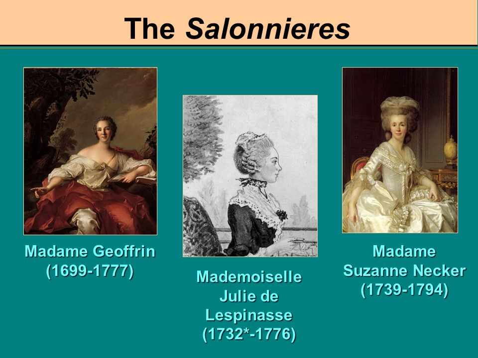 The Salonnieres Madame Geoffrin (1699-1777)