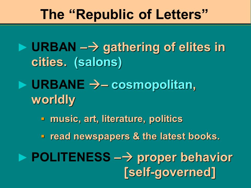 The Republic of Letters