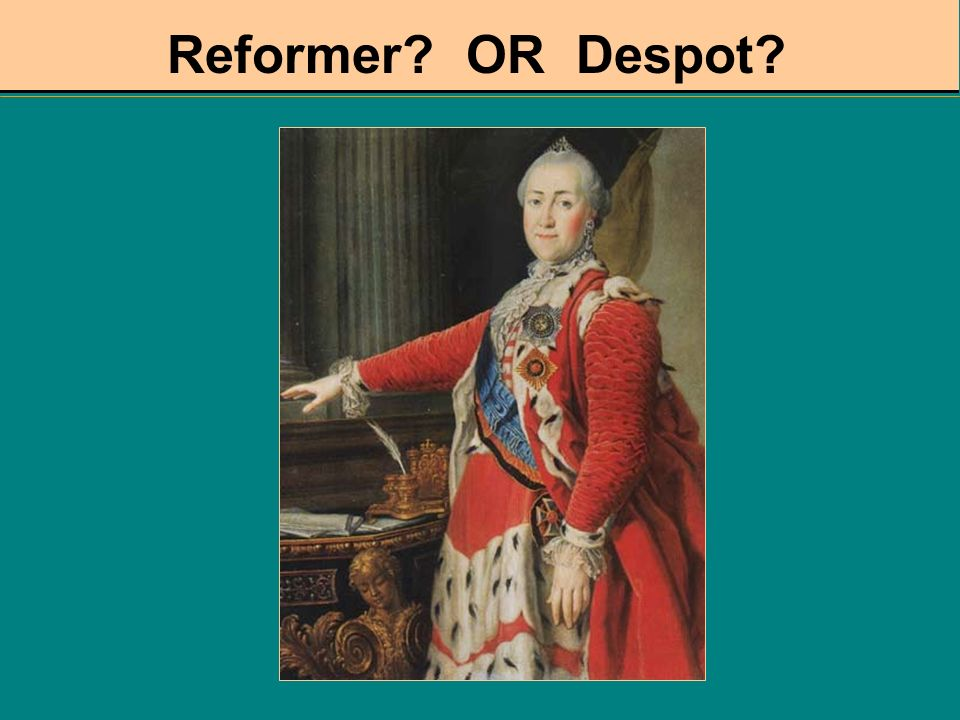 Reformer OR Despot