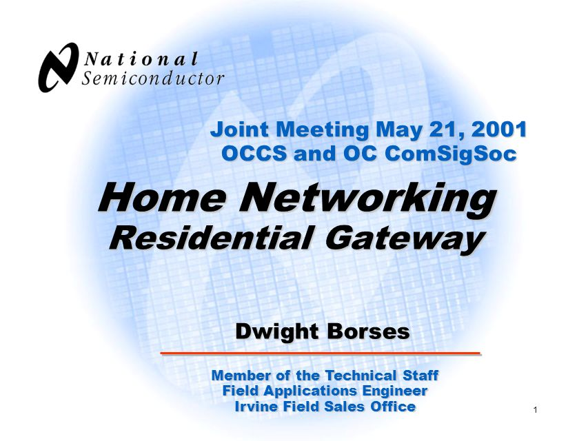 Home Networking Residential Gateway
