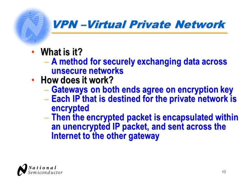 VPN –Virtual Private Network