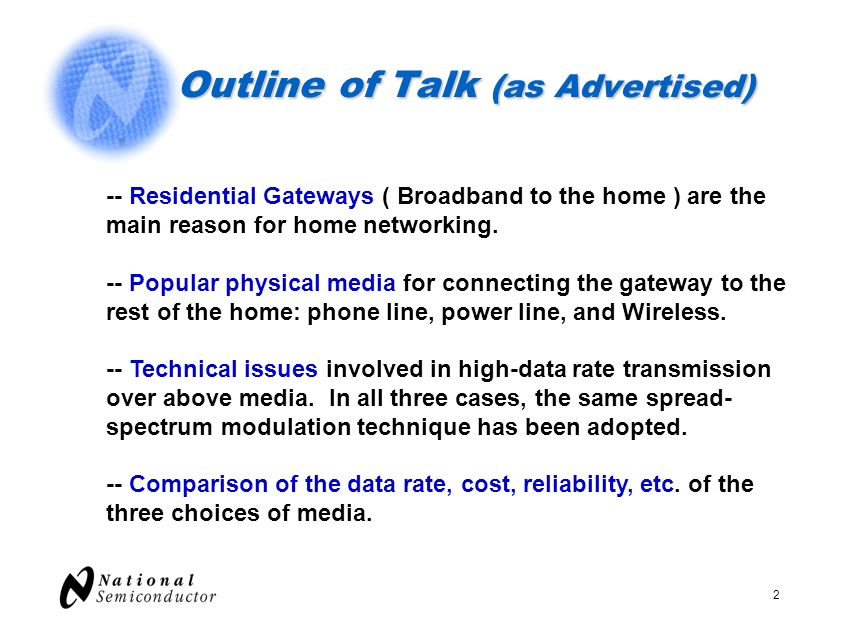 Outline of Talk (as Advertised)