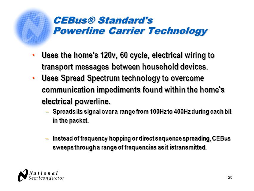CEBus® Standard s Powerline Carrier Technology