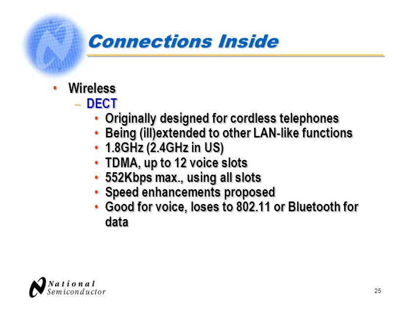 Connections Inside Wireless DECT