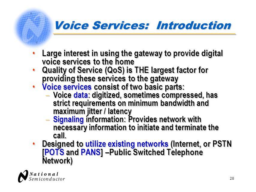 Voice Services: Introduction