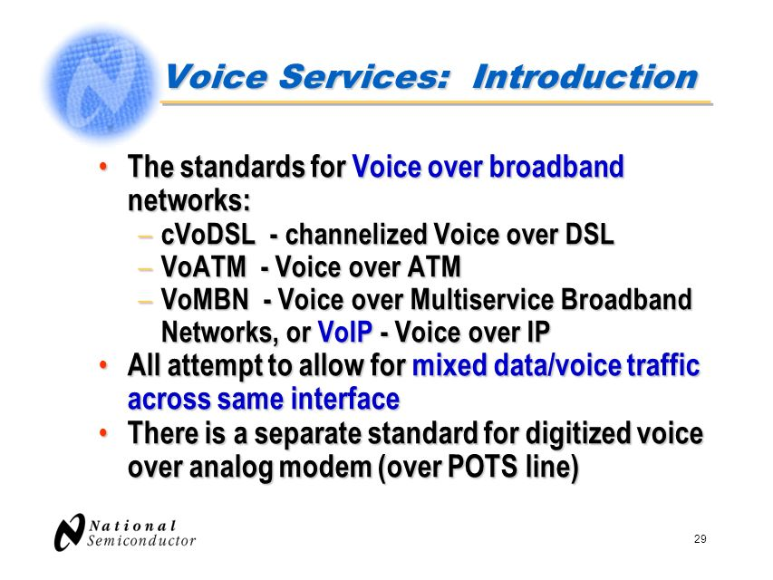 Voice Services: Introduction