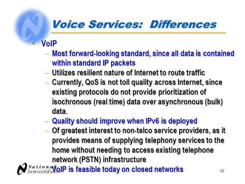 Voice Services: Differences