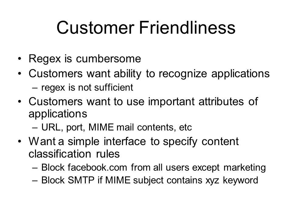Customer Friendliness